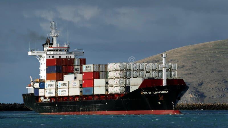 Ande av Canterbury Port Lyttleton NZ royaltyfri foto