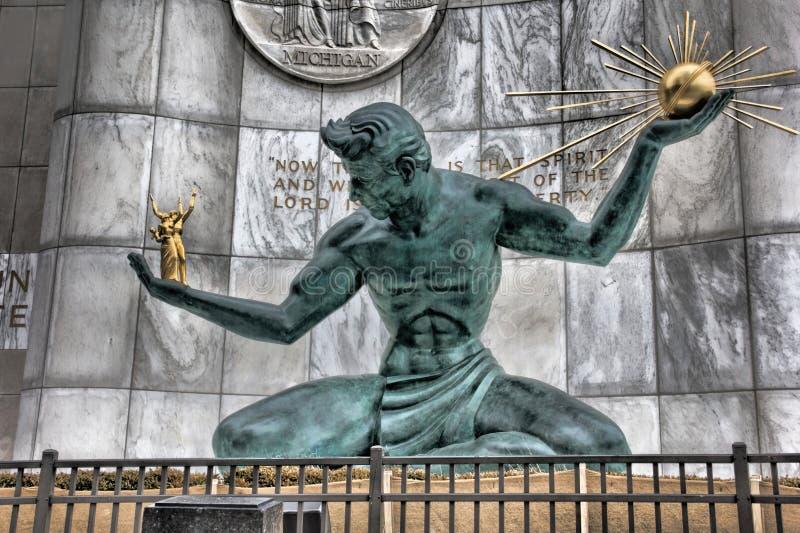 Ande av Detroit royaltyfri fotografi