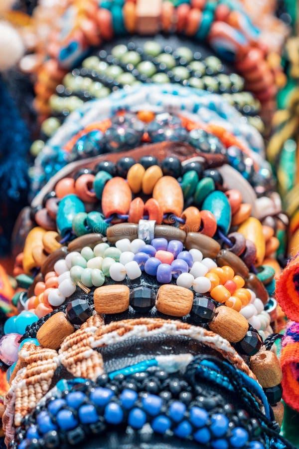 Andean armband och hantverk - Cajamarca Peru royaltyfria foton