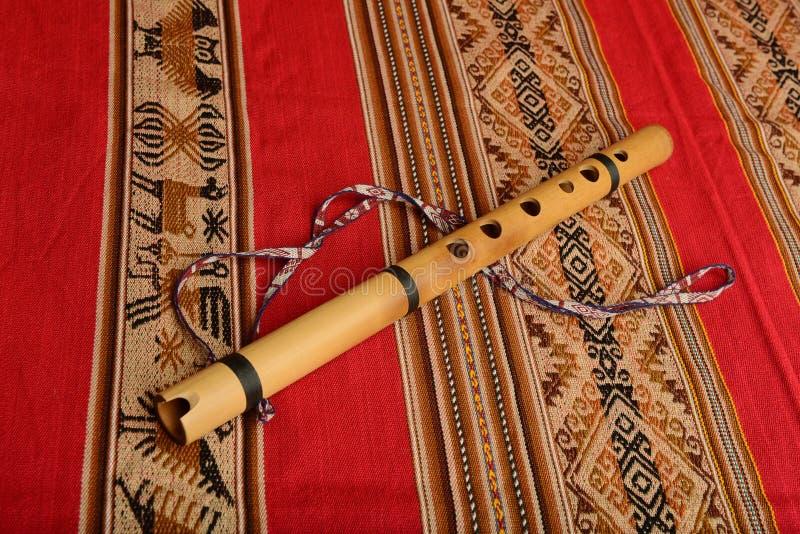 Andean flöjt från Sydamerika royaltyfria foton