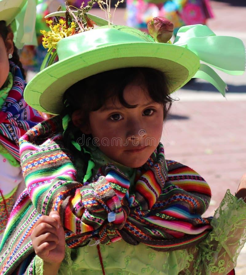 Andean flicka 4 royaltyfri fotografi