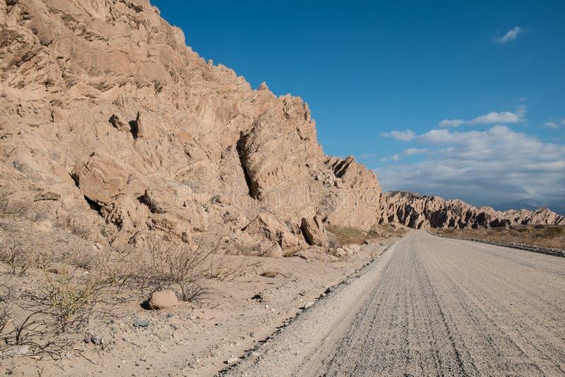Andean grusväg arkivbilder