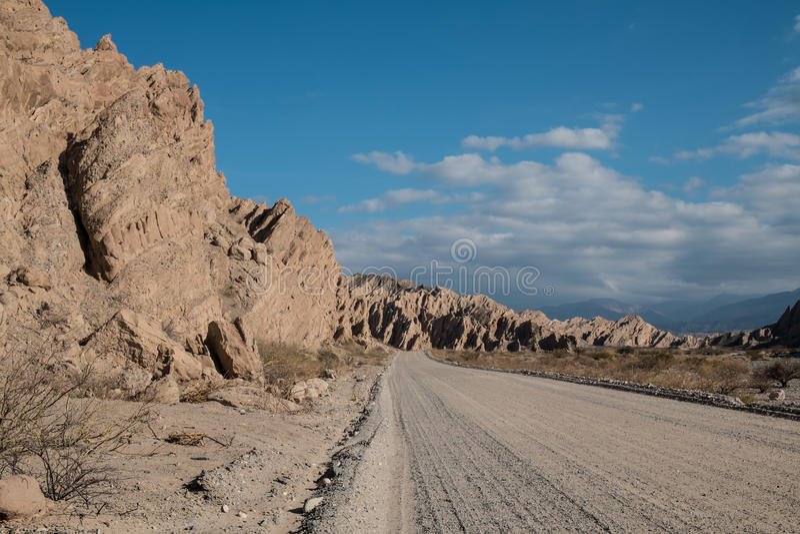 Andean grusväg royaltyfria bilder