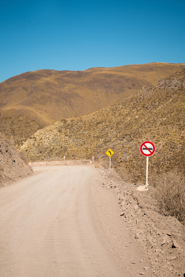 Andean road royalty free stock photos