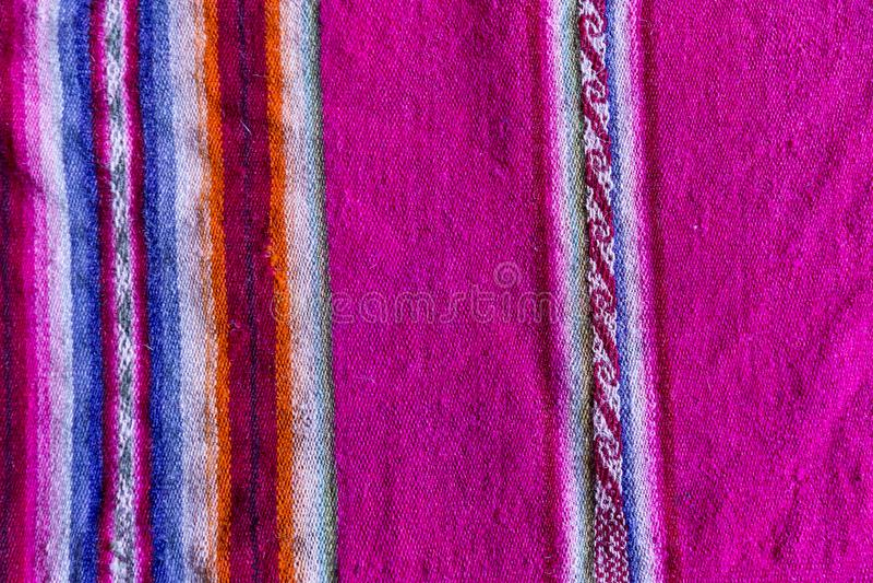 Andean textil i alpaca- och arkull royaltyfria bilder
