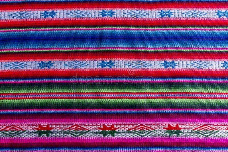 Andean textil i alpaca- och arkull arkivfoton