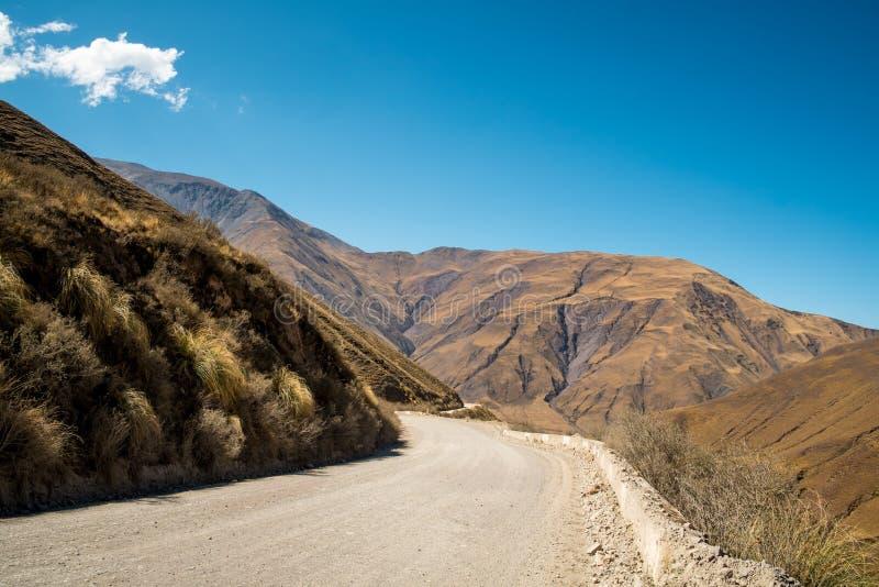Andean väg arkivbilder