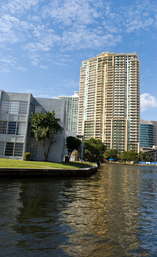 andelslägenhetflorida Fort Lauderdale lyx arkivbilder