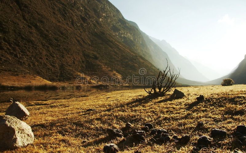 Anden-Landschaft stockbild