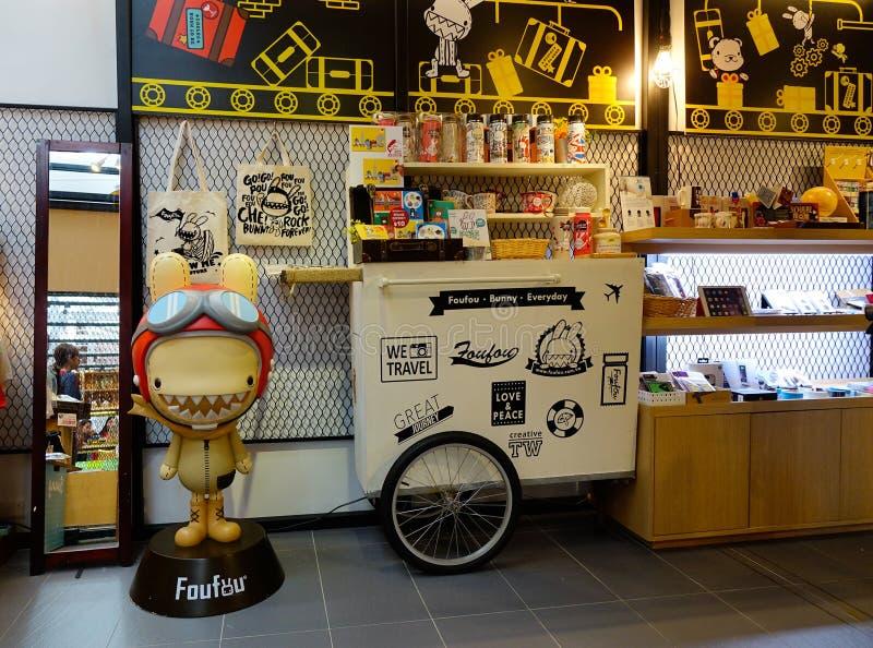 Andenken für Verkauf am Einkaufszentrum in Taipeh lizenzfreies stockbild