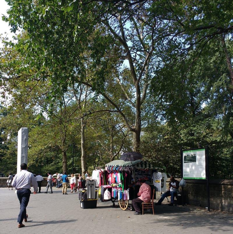 Andenken-Verkäufer nahe Central Park, Manhattan, NYC, NY, USA stockbild