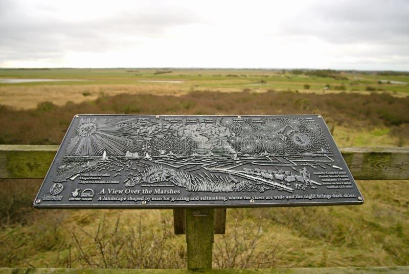 Anderby Creek marsh plaque. stock photo