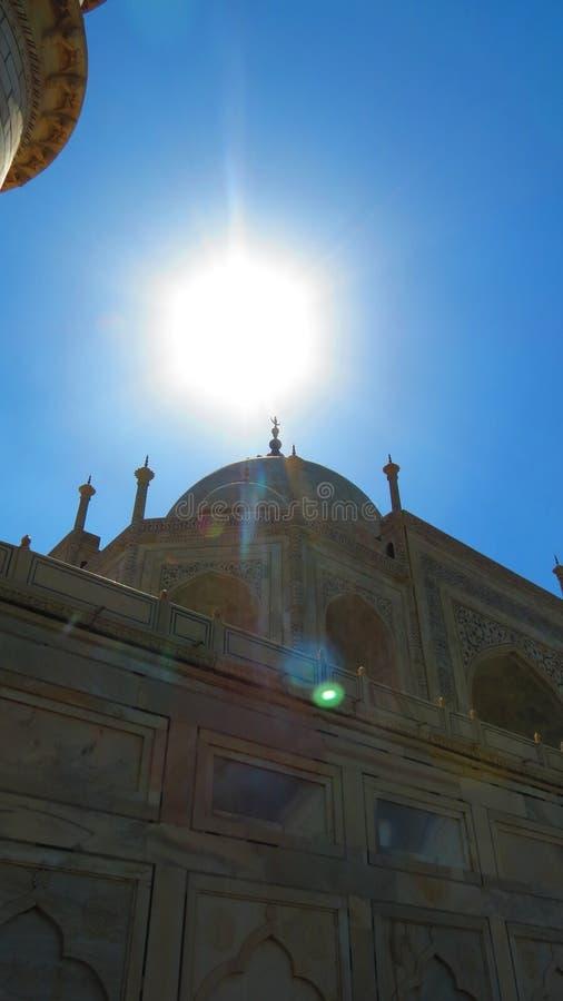 Andere hoek taj mahal India royalty-vrije stock fotografie