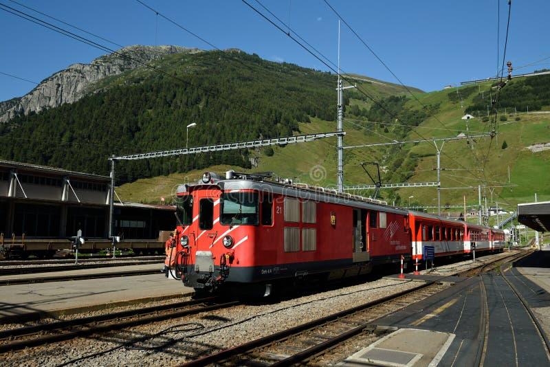 Andermatt Railway Station, Switzerland stock image