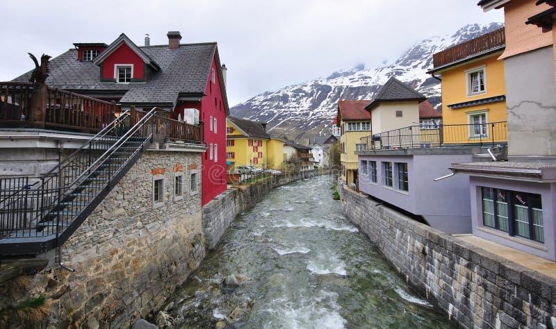 Andermatt swiss Alps stock photo Image of street houses 33504806