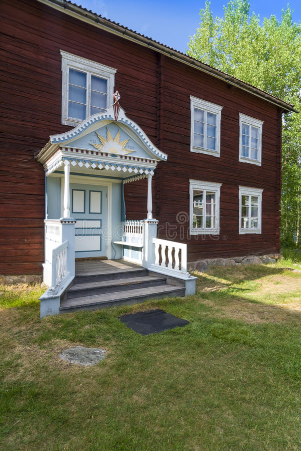 Anders rolni budynki Halsingland Szwecja zdjęcie royalty free