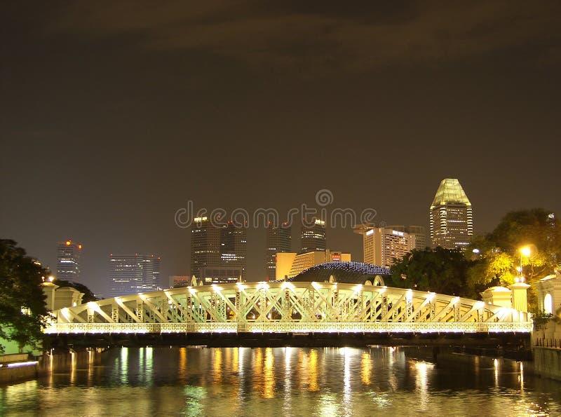 Download Singapore Anderson bridge stock image. Image of night - 7306819