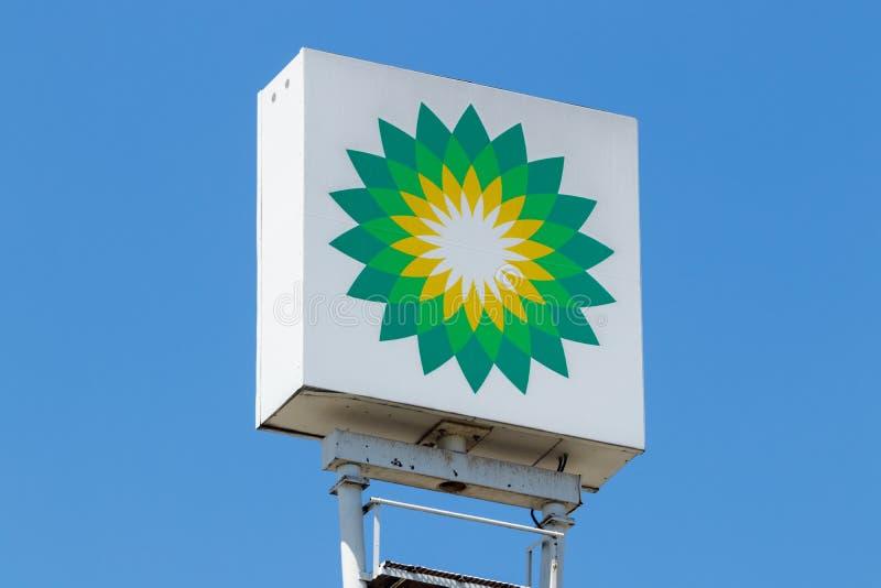 Anderson - Circa April 2018: Het Kleinhandelsbenzinestation van BP BP is Één van de Wereld ` die s Geïntegreerde Olie en Gasbedri royalty-vrije stock foto's