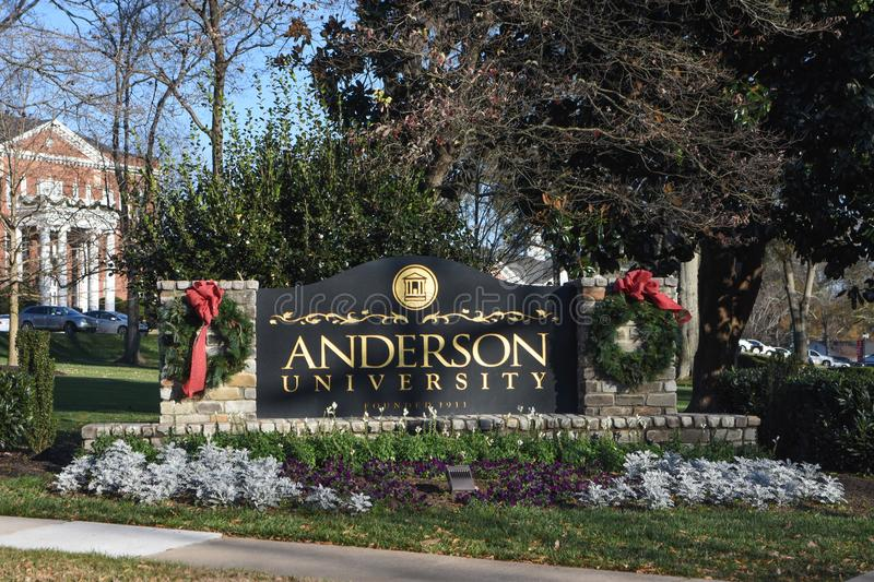 Anderson University royaltyfria bilder