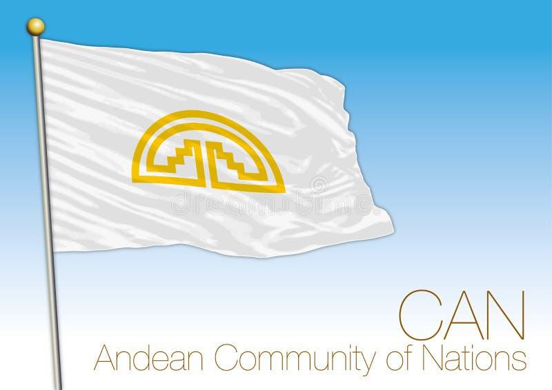 Andes Communautaire vlag, internationale organisatie vector illustratie