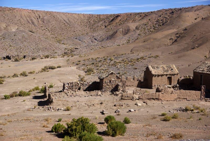 Andes e deserto de atacama, Uyuni, Bolívia imagem de stock royalty free