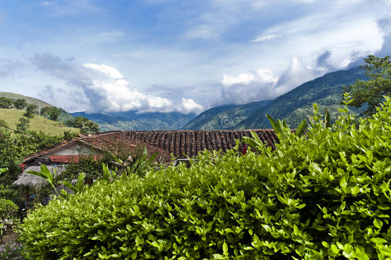 Andes landschap royalty-vrije stock foto