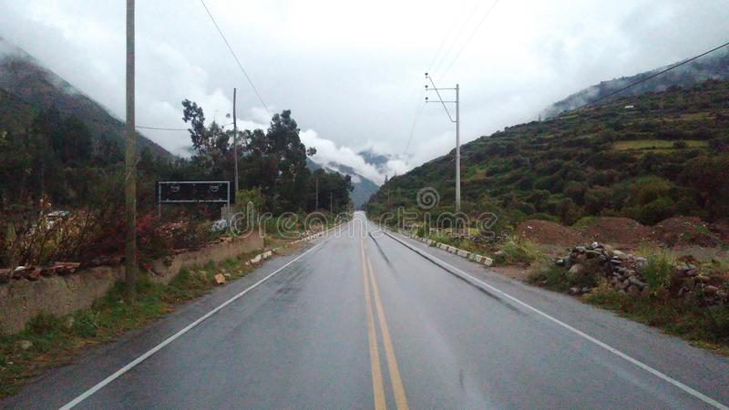 Driving Ecuador royalty free stock photography
