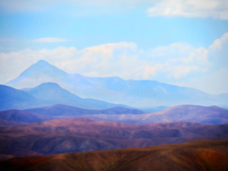 Andes Mountains, layered bounties stock photos