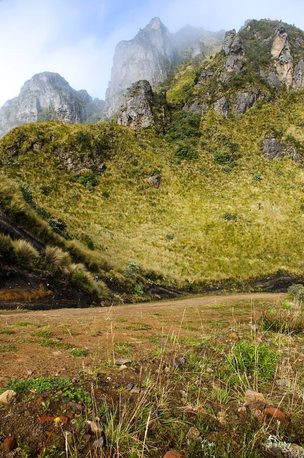 Andes Mountains at Mojanda. Ecuador stock image