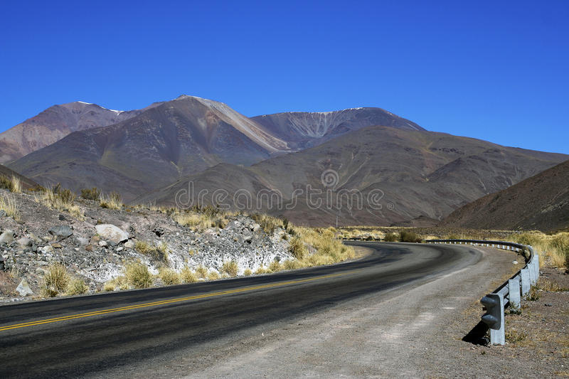 Road 51 in Salta province, Argentina. Image of The Andes mountains taken from the Road 51 that goes from Salta to San Antonio de los Cobres cities, in Salta royalty free stock photography