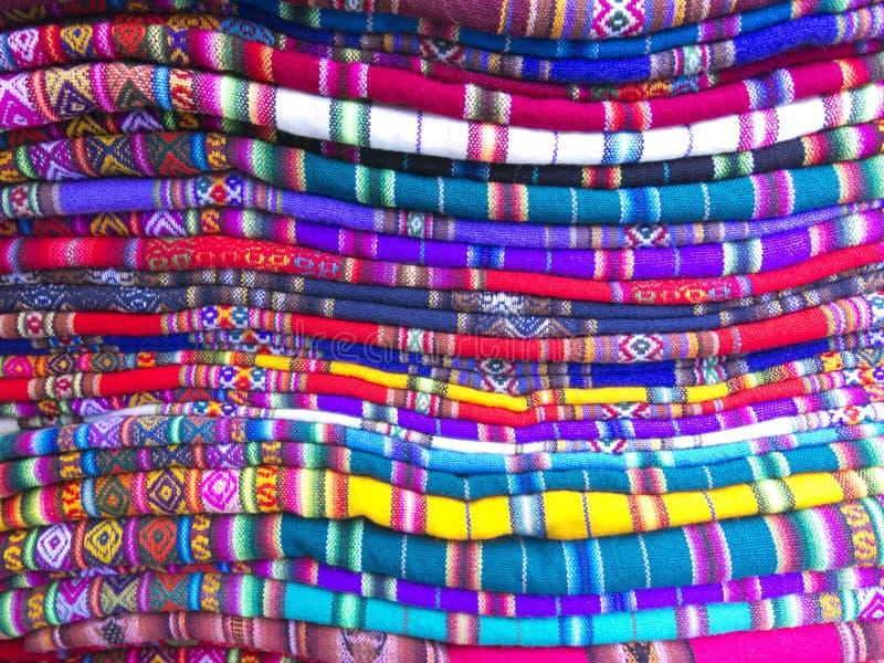 Andesdekens in een straatmarkt, La Paz, Bolivië royalty-vrije stock foto