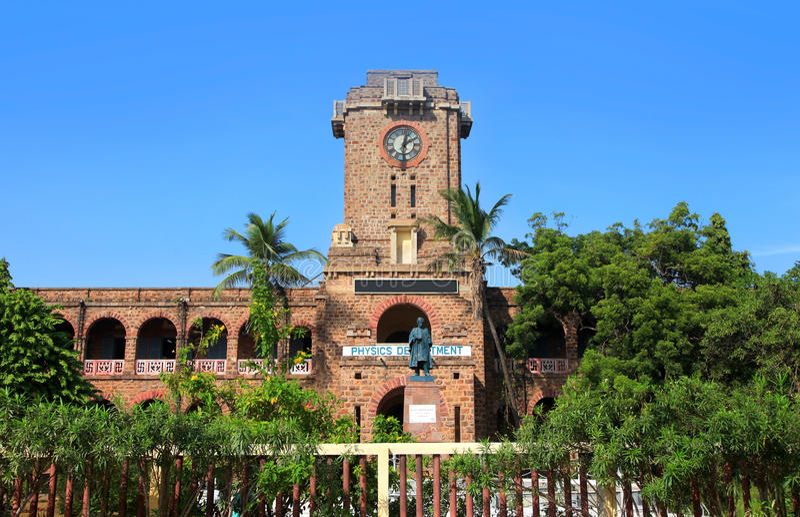 Andhra university college of sciences stock photo