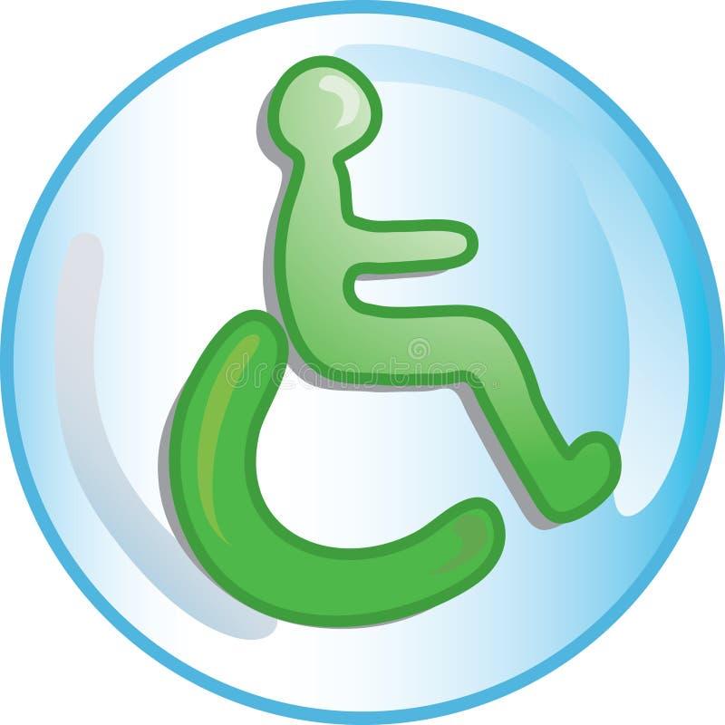 Andicappi l'icona illustrazione vettoriale