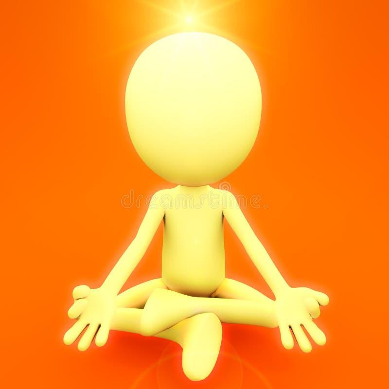 Andlig meditation stock illustrationer