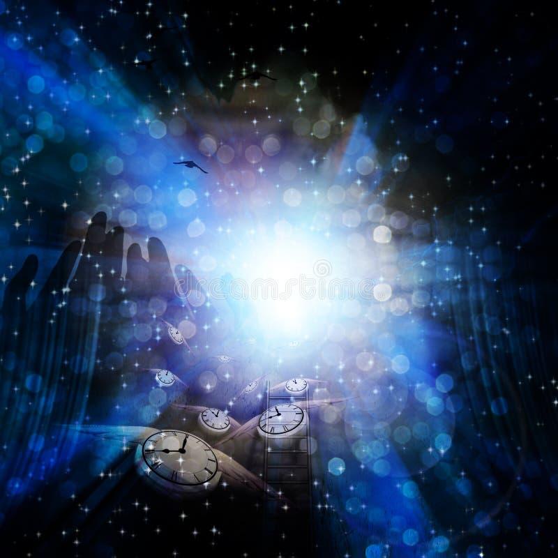 andlig tid vektor illustrationer