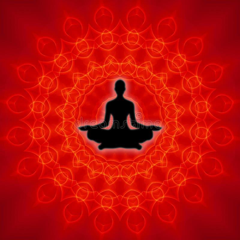 andlig yoga royaltyfri illustrationer