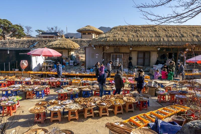 Andong Hahoe wioski Ludowy rynek otwarty zdjęcie stock