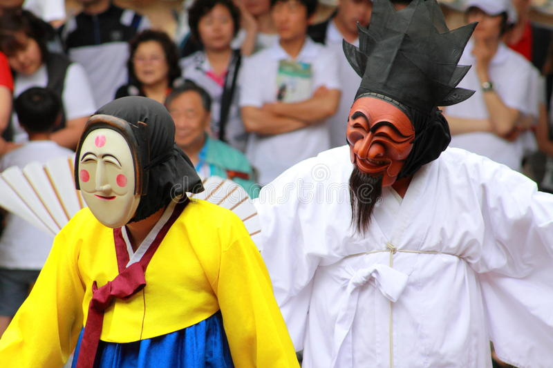 Andong mask dance, South Korea stock image