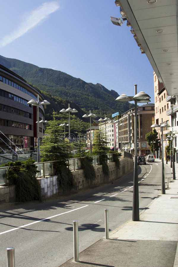 Andora. Microstate of Andorra. Architecture and Cityscapes Attractions royalty free stock image