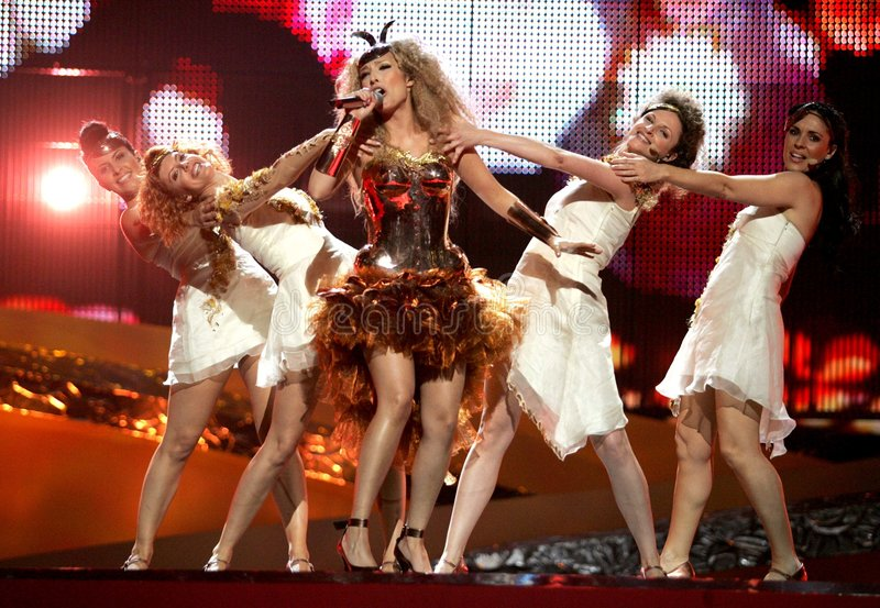Andorra. On Eurovision song contest in Belgrade,Serbia stock photography