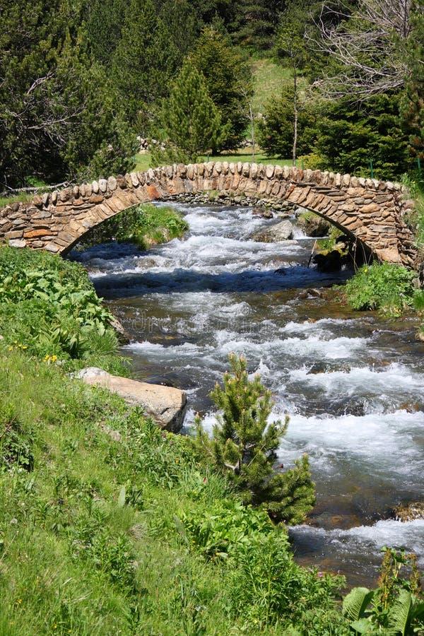 andorra bridżowy de stary ransol kamienia vall zdjęcie royalty free