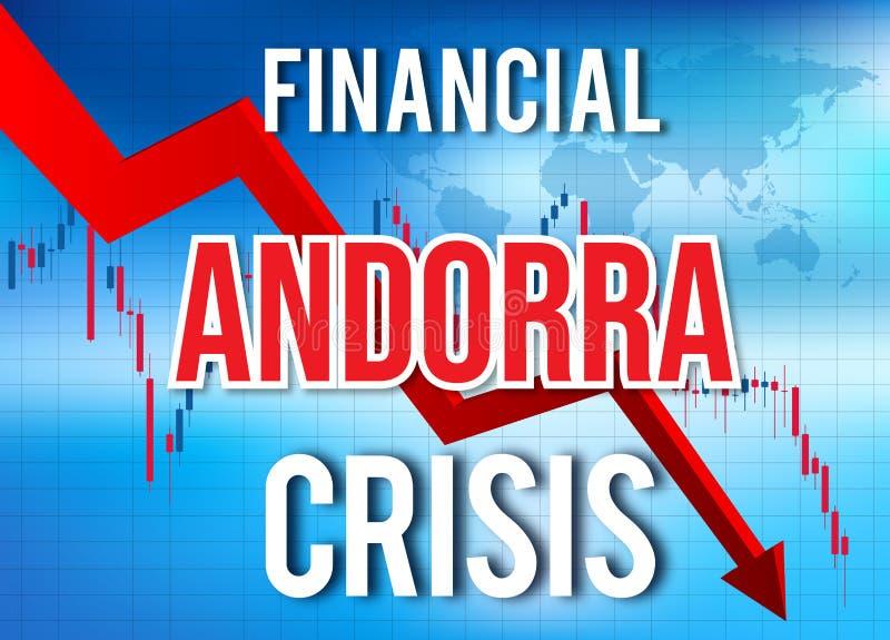 Andorra Financial Crisis Economic Collapse Market Crash Global Meltdown. Illustration vector illustration