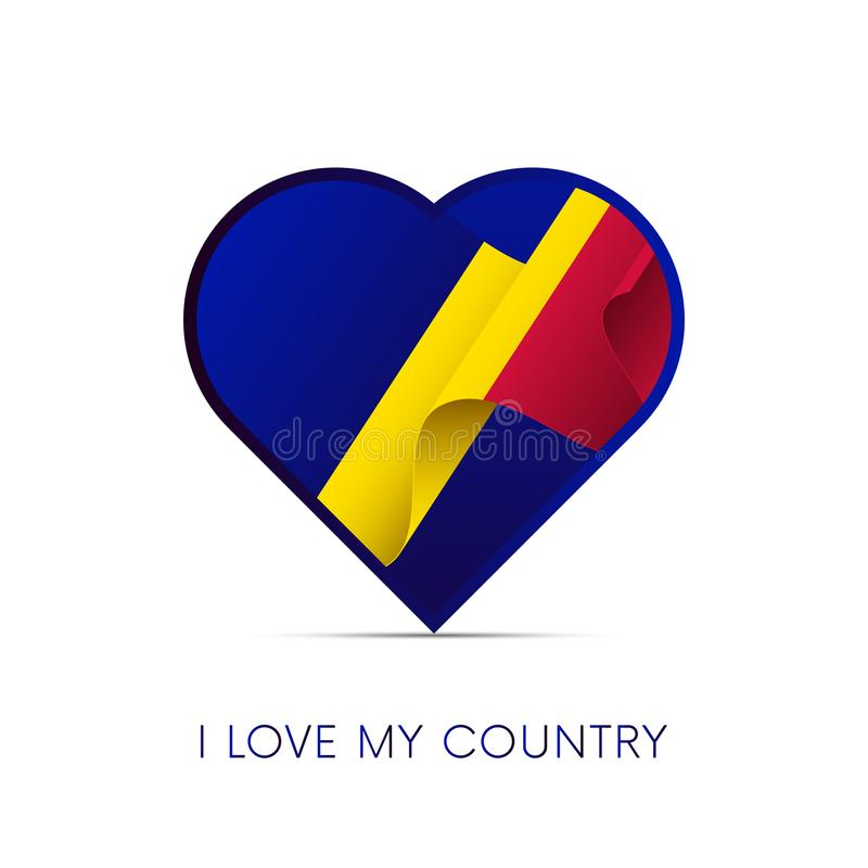 Andorra flag in heart. I love my country. Sign. Vector illustration. stock illustration