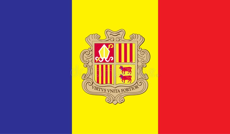 Andorra flag image. For any design in simple style vector illustration