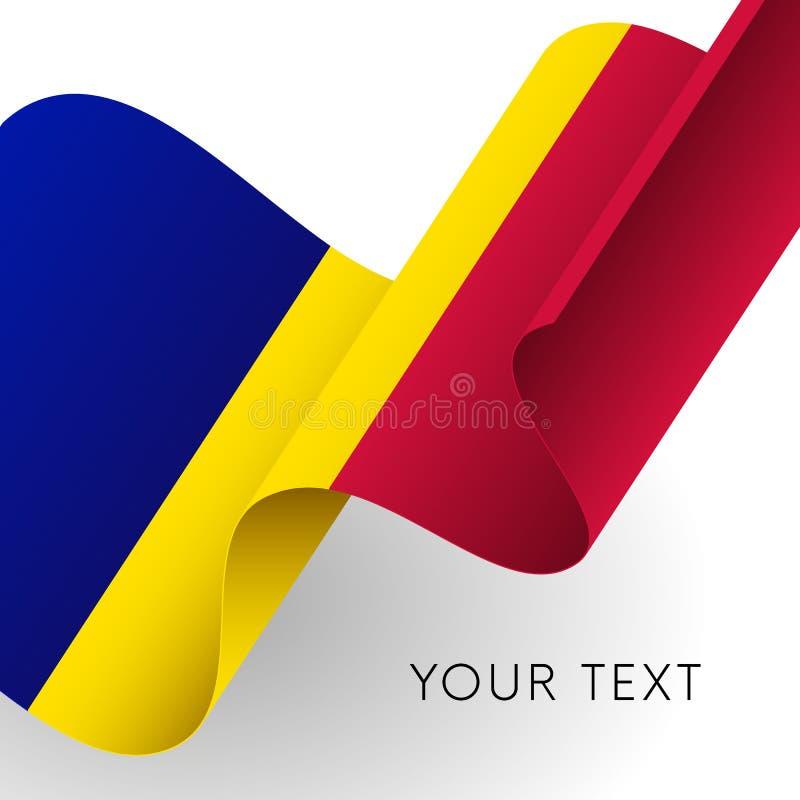 Andorra flag. Patriotic design. Vector illustration. Andorra flag. Patriotic design. Waving flag stock illustration