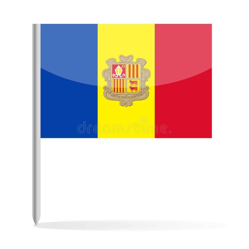 Andorra Flag Pin Vector Icon. Illustration royalty free illustration