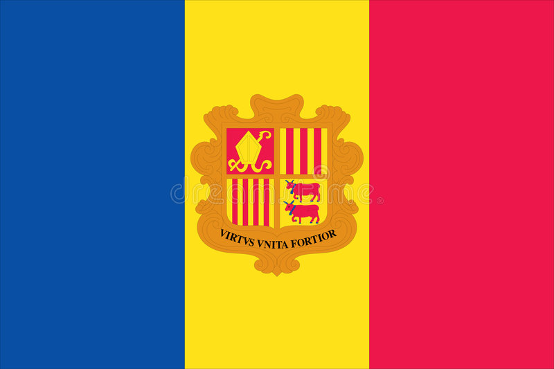 andorra flaga ilustracji