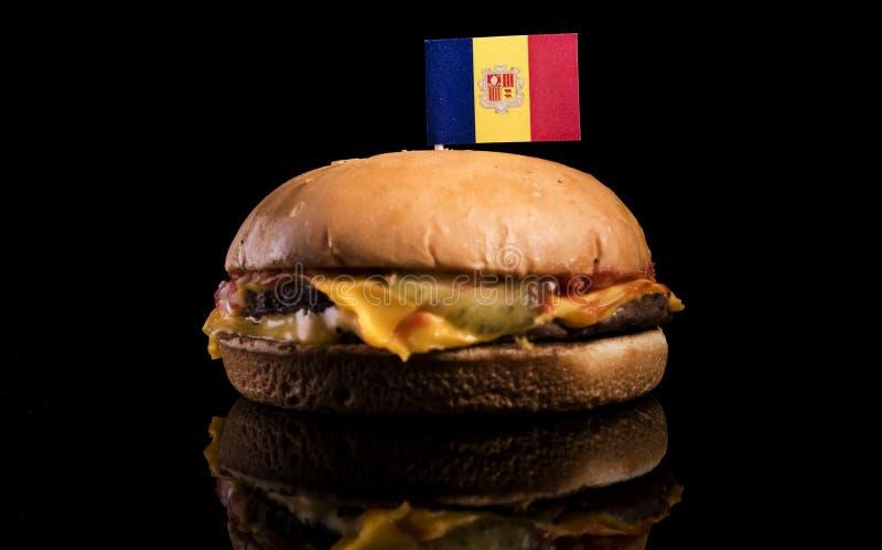Download Andorra-Flagge Auf Den Hamburger Lokalisiert Auf Schwarzem Stockfoto - Bild von gewohnheiten, essen: 96931584