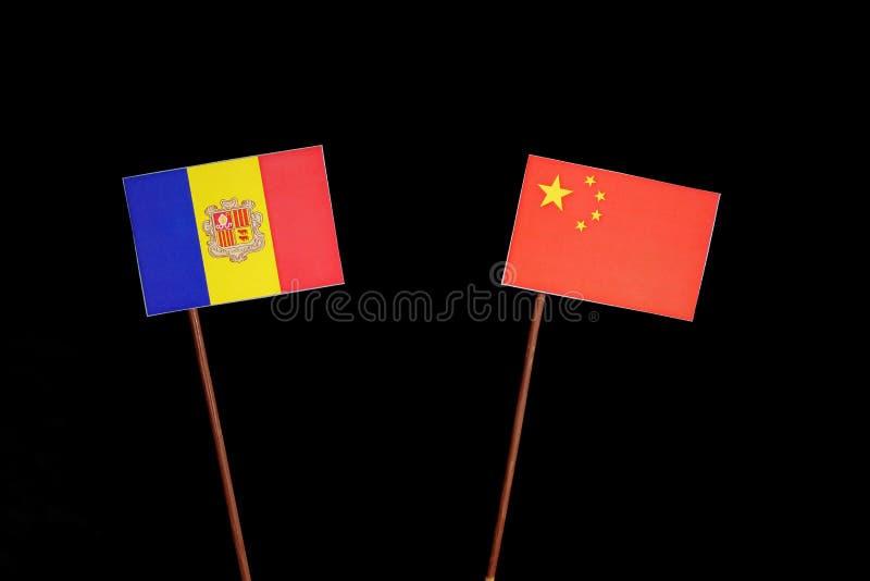 Download Andorra-Flagge Mit Der Chinesischen Flagge Lokalisiert Auf Schwarzem Stockbild - Bild von land, kultur: 96931421