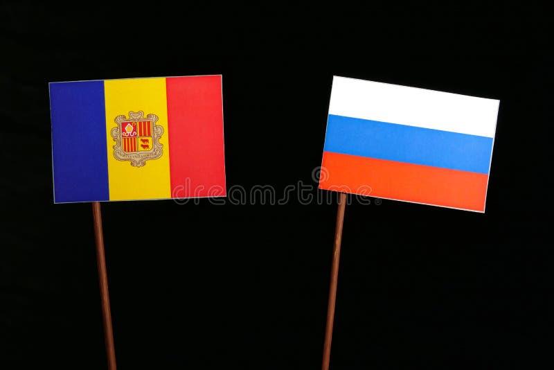Download Andorra-Flagge Mit Der Russischen Flagge Lokalisiert Auf Schwarzem Stockbild - Bild von geschäft, regierung: 96931583